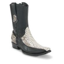 King Exotic Natural Python & Deer Dubai Toe Boots