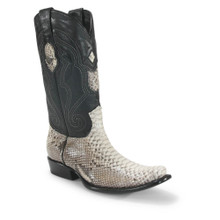 Wild West Natural Brown Python Dubai Toe Boots