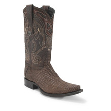 Wild West Sand Brown Teju Lizard Snip Toe Boots