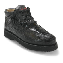 Los Altos Black Full Ostrich Leg Casual Shoes