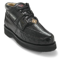 Los Altos Black Stingray & Ostrich Skin Casual Shoes