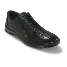 Los Altos Black Ostrich Patch Casual Shoes