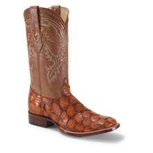 Los Altos Cognac Glossy Pirarucu Square Toe Boots