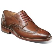 Florsheim Salerno Cognac Leather Wingtip Oxfords