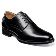 Florsheim Midtown Black Leather Plain Toe Oxfords