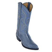 Los Altos Blue Jean J-Toe Genuine Ostrich Paw Boot