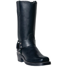 Dingo Molly Womens Black Leather Biker Boot