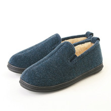 Slippers International Navy Plush Slipper Boots