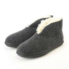 Slippers International Charcoal Plush Ankle Bootie