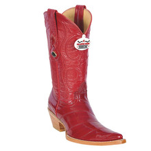 Los Altos Red Genuine Eel Skin