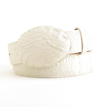 Los Altos Winterwhite Caiman Belt