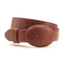 Los Altos Cognac Genuine Lizard Belt