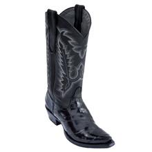Los Altos Women's Black Snip Toe Eelskin Boots