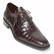Mezlan Genuine Crocodile Brown Anderson Lace-Up
