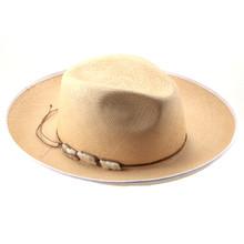 Bigalli Punta Blanca Beige Panama Sun Hat