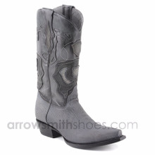 King Exotic Grey Genuine Shark Boots