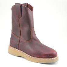 Bonanza Chedron Full-Grain Leather Wedge Wellington Boots