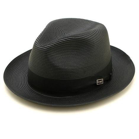 Dobbs Rosebud Black Straw Hat