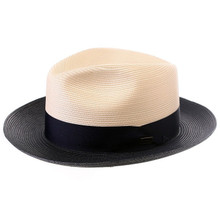 Dobbs Toledo Navy & White Straw Hat