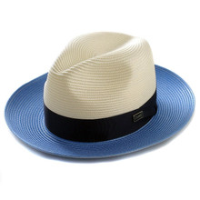 Dobbs Toledo Ivory & Blue Straw Hat