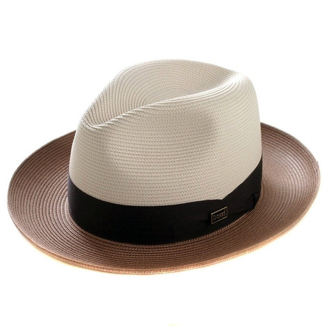 Dobbs Toledo Beige & Cognac Straw Hat