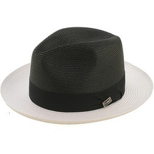 Dobbs Toledo Black & White Straw Hat