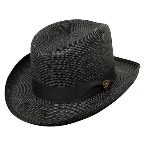 Dobbs El Dorado Black Straw Hat