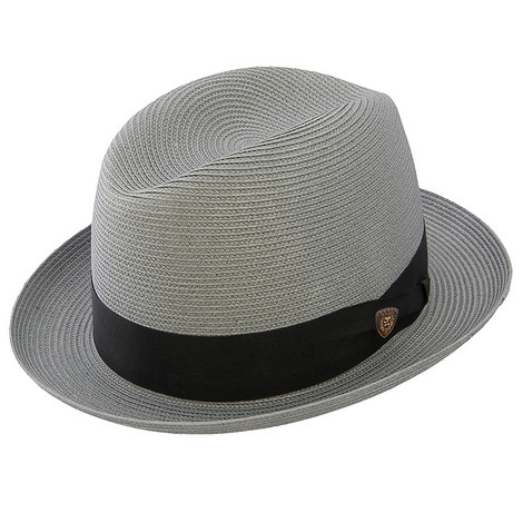 Dobbs Parker Gray Straw Hat