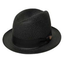 Dobbs Madison Black Straw Hat