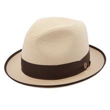 Stetson Latte Cream Straw Hat