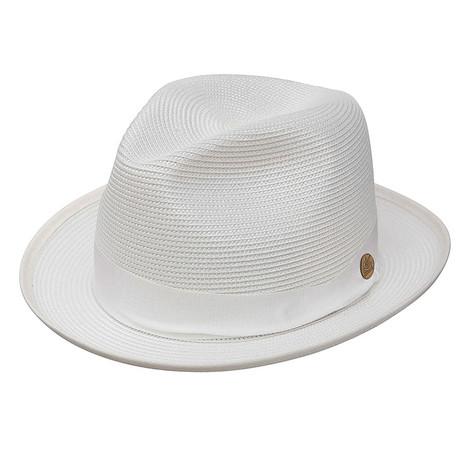 Stetson Latte White Straw Hat