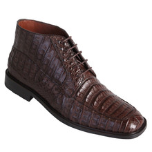 Los Altos Brown Genuine Caiman Skin Lace-ups