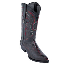 Los Altos Black Cherry J-Toe Genuine Ostrich Leg