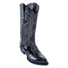 Los Altos Black Eelskin Western Boot