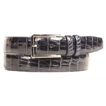 Mezlan Blue Genuine Crocodile Belt