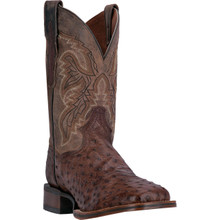 Dan Post Alamosa Saddle Brown Leather & Ostrich Boots