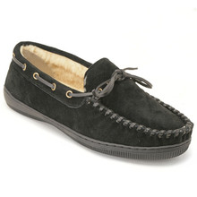 Black Suede Moccasin