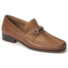 Sandro Moscoloni Garda Tan Genuine Leather Bit Loafers