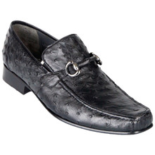 Black Genuine Ostrich Slip On By Los Altos