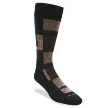 Remo Tulliani Sioux Brown, Navy, & Taupe Dress Socks 315913