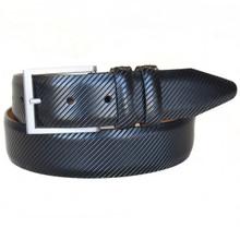 Lejon Beveled Edge Black Full Grain Leather Belt