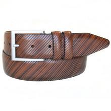 Lejon Beveled Edge Tan Full Grain Leather Belt
