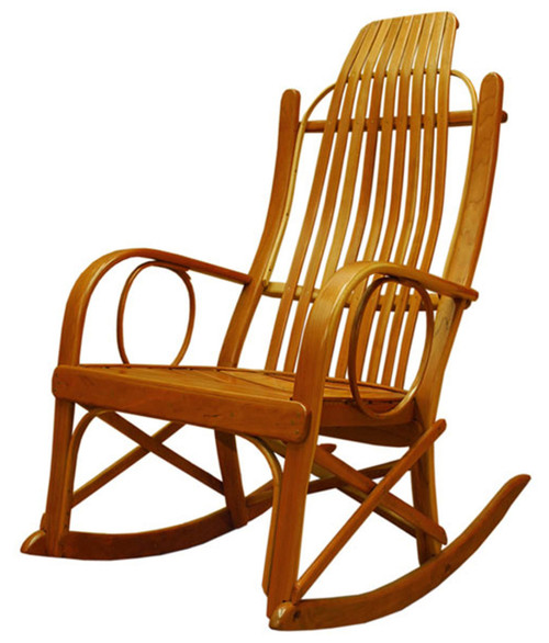 Bon Amish Bentwood Rocker   Solid Cherry