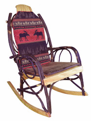 Amish Bentwood Rocker Cushion Set - Red Moose Fabric