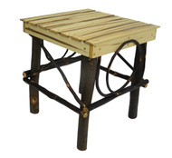 Amish Bentwood Side Table - Hickory & Wormy Maple