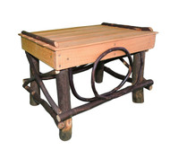 Amish Bentwood Foot Stool - Hickory & Oak