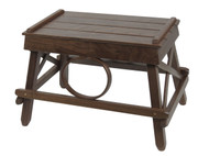 Amish Bentwood Foot Stool - Solid Walnut