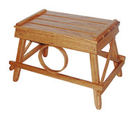 Amish Bentwood Foot Stool - Solid Oak