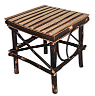 Amish Bentwood Square Side Table - All Hickory