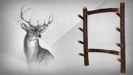 Rustic Hickory Gun Rack